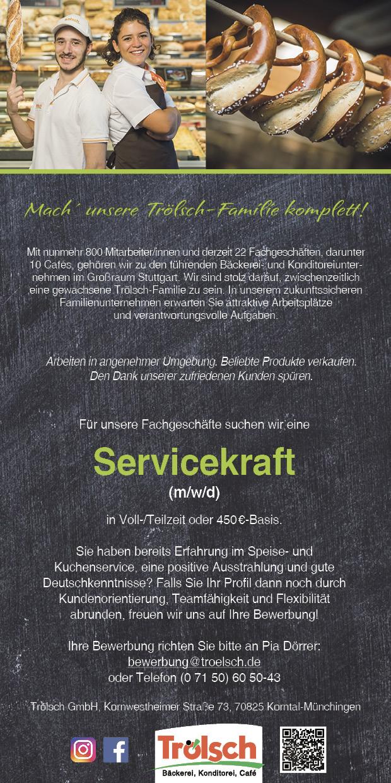 Bild Stellenangebot: Servicekraft