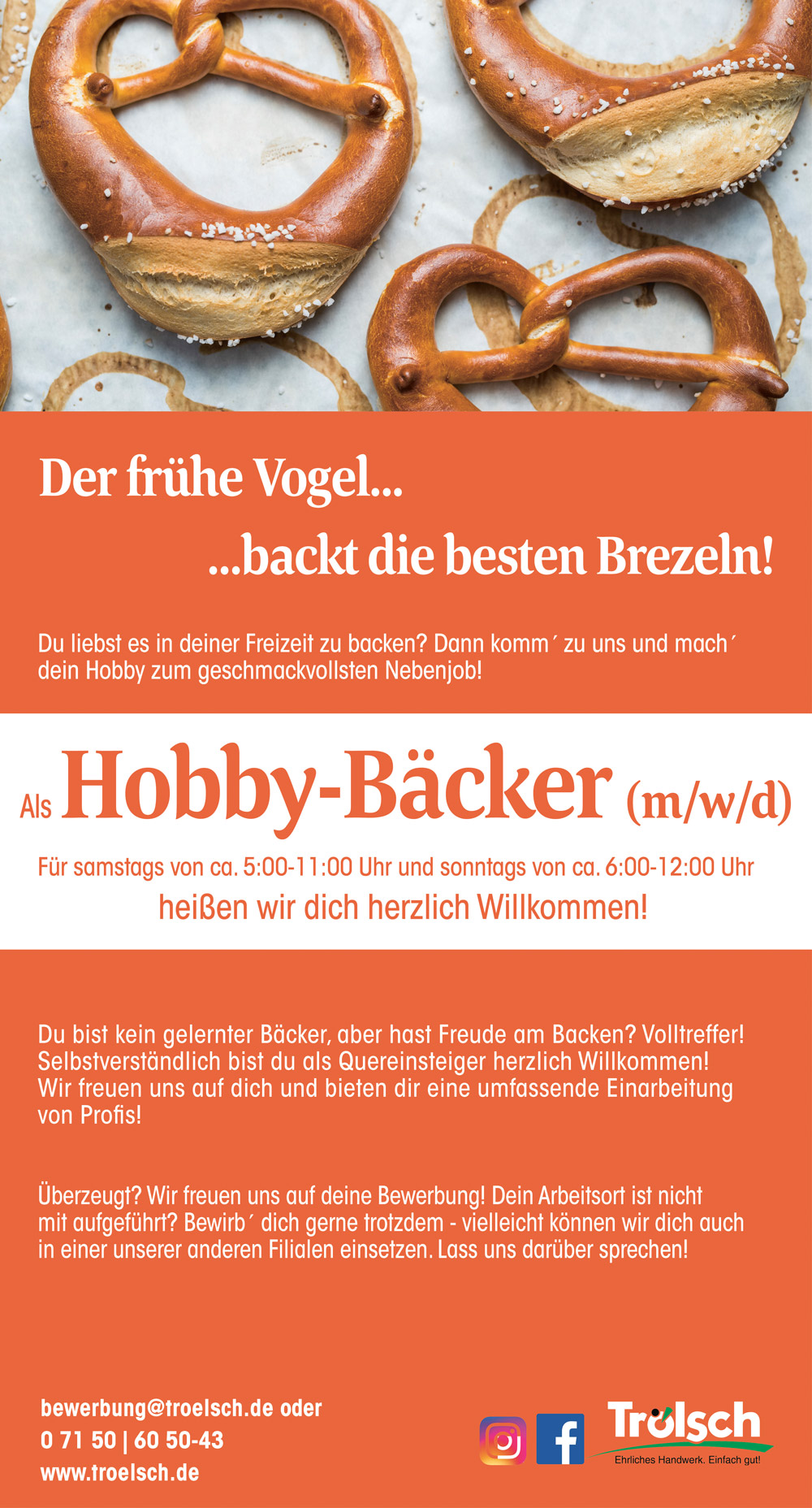 Bild Stellenangebot: Hobby-Bäcker/in
