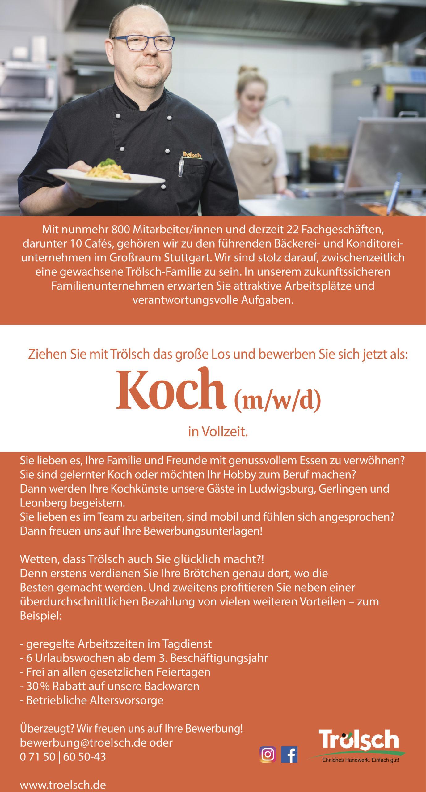 Bild Stellenangebot: Koch
