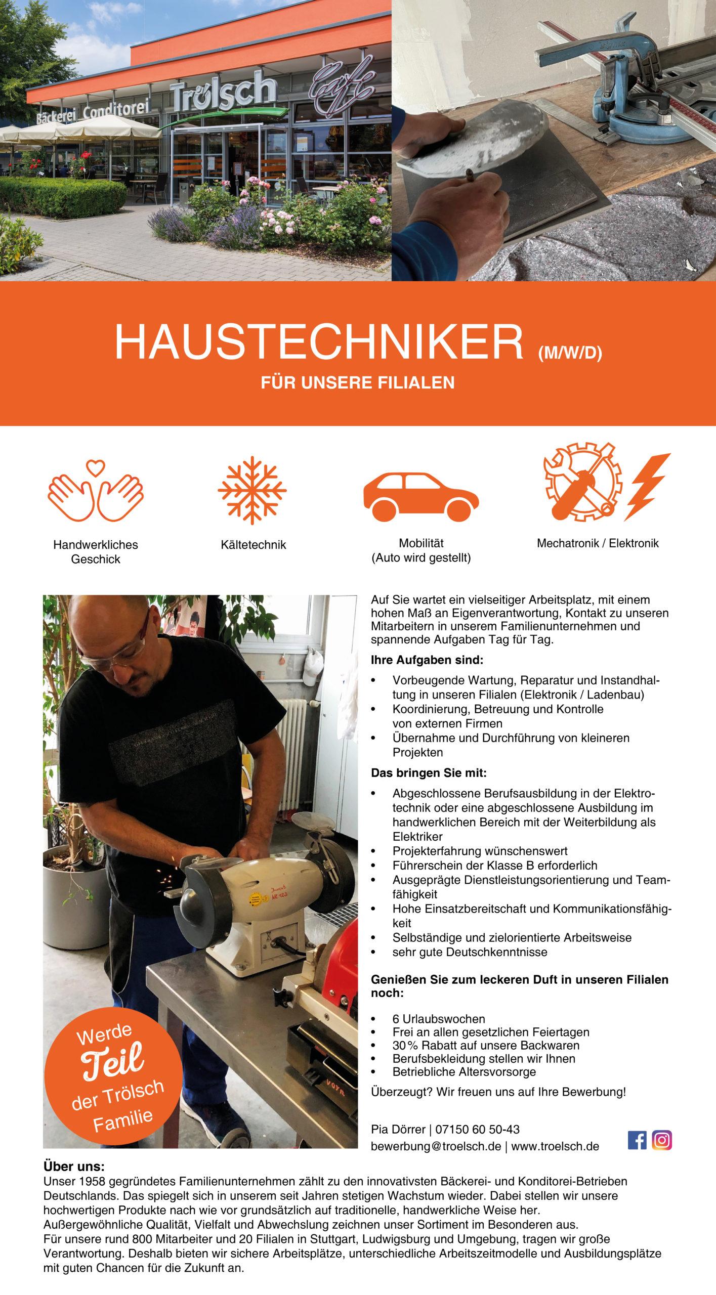 Bild Stellenangebot: Haustechniker